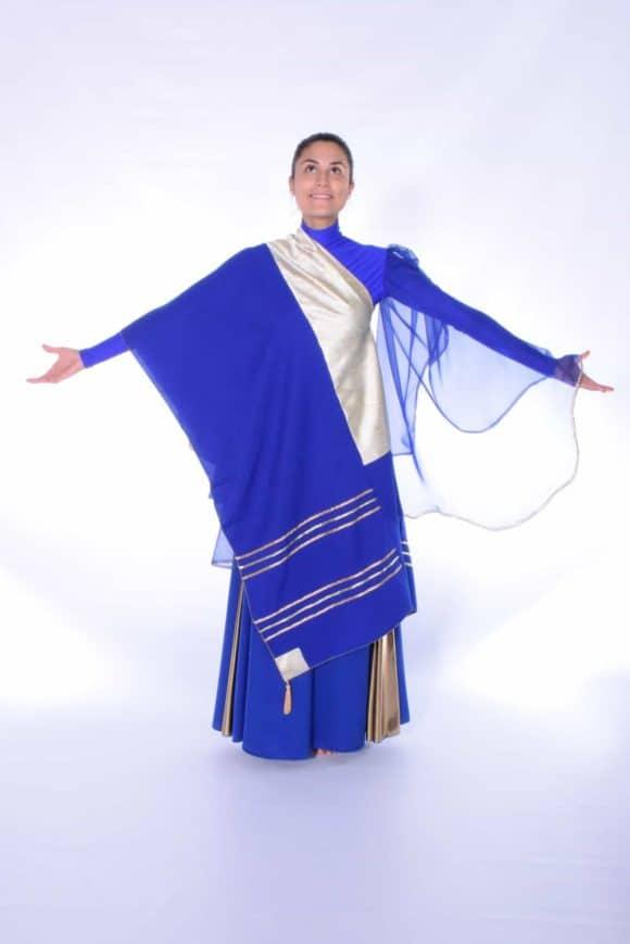 LD-1001 The Covenant Prayer Shawl (Royal Blue-Gold)