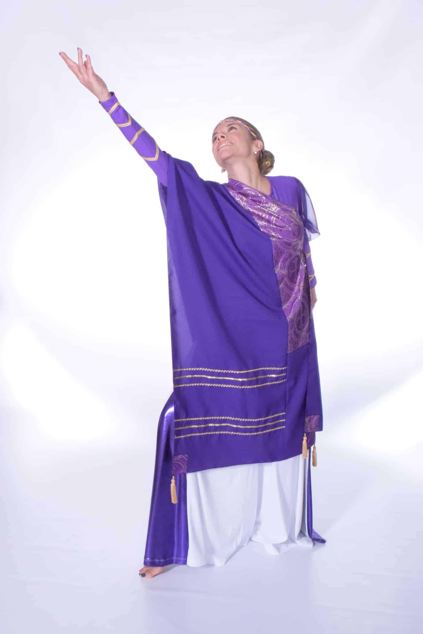 The Covenant Prayer Shawl Purple Gold Rejoice Dance